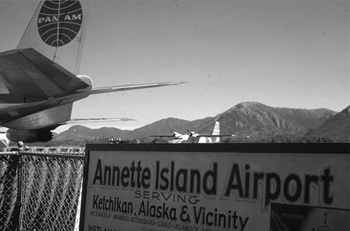 Annette Island Airport - Pan Am in the background