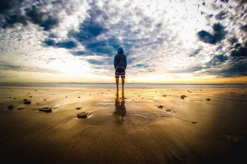 beach beautiful california clouds