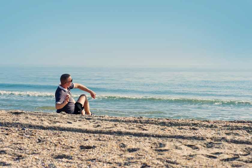 alone beach boy day